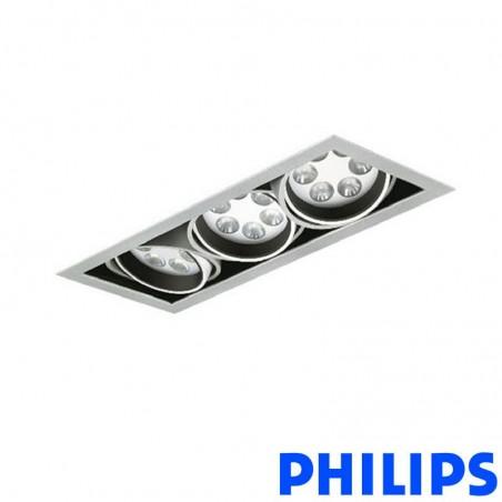 Philips BBX395 3x6LED TurnRound Gridlight Faretto Incasso 18W 25° 3000K