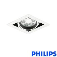 Philips BBX395 1x6LED TurnRound Gridlight Recessed Spotlight 18W 40° 3000K White