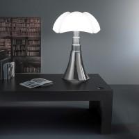 Martinelli Luce Pipistrello Table Lamp aluminium Design Gae Aulenti