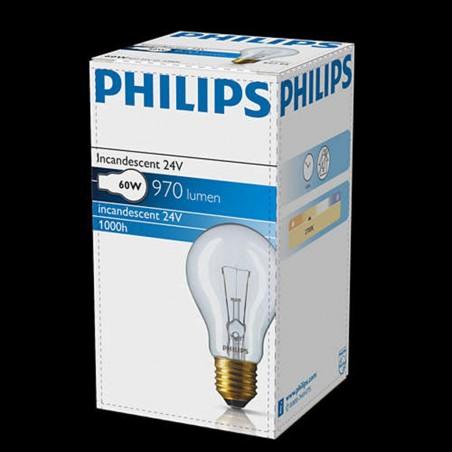 Philips Standard ELV 60W E27 24V 2700K 970lm Incandescent Lamp low voltage