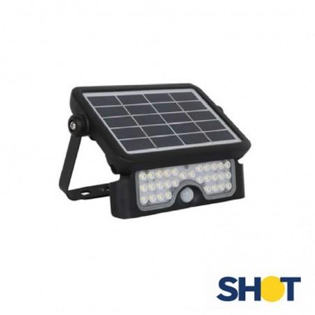 Bot Lighting Shot Yuma 5N Proiettore Led Solare 5W 500 lumen con Sensore movimento Faretto Esterno IP65