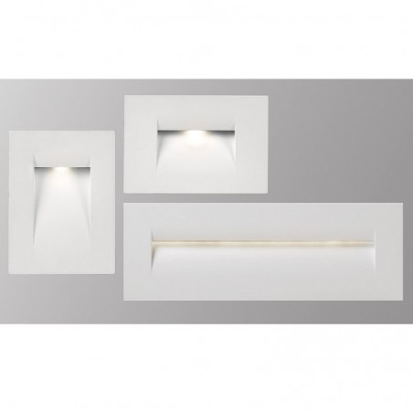 PAN INC59004 Fast LED 8.5W 55° 3000K 270lm Incasso Segnapasso IP65 Bianco