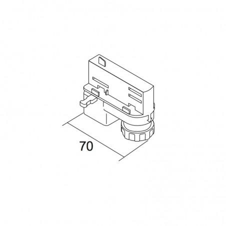 IVela adattatore Elettromeccanico bianco per Binario trifase