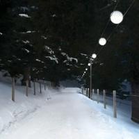 Cini & Nils Tensesterni Sistema Di Illuminazione Per Esterni Su Cavi Sospesi
