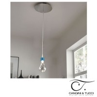 Cangini & Tucci 1223.1L Archimede Suspension Ceiling Lamp Blown Glass