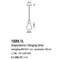 Cangini & Tucci 1223.1L Archimede Suspension Ceiling Lamp Blown Glass