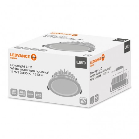 Osram LEDVANCE Downlight LED Faretto Incasso 14W 3000K 1310 lm
