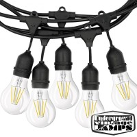 Black String Light Bulbs Included 10 Lamp holder E27 12.5 meter IP65 Outdoor Extendable waterproof