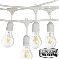 White String Light Bulbs Included 10 Lamp holder E27 12.5 meter IP65 Outdoor Extendable waterproof