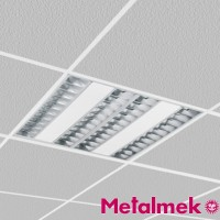 Metalmek T5 S7961 PAR 90 4x14W Darklight Recessed Lamp 60x60