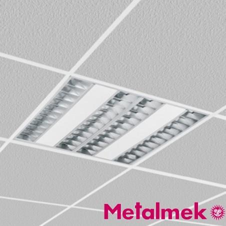 Metalmek T5 S7961 PAR 90 4x14W Darklight Lampada da Incasso 60x60
