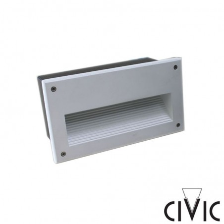 Civic Eolo 1x13W White Recessed Wall Lamp for Outdoor JEN.13MRV
