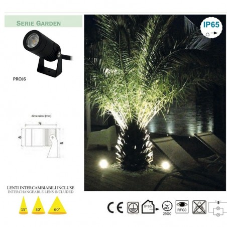 Lampo Projector LED 12W Floodlight Adjustable For Indoor And Outdoor