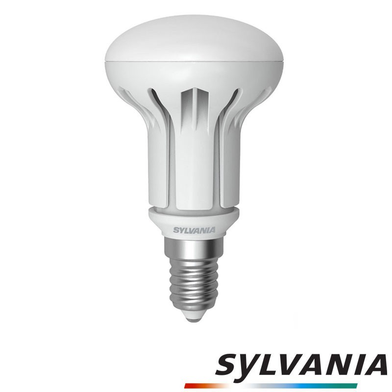 sylvania led spot e14 r50 6w 42w 110 reflector lamp bulb diffusione luce srl. Black Bedroom Furniture Sets. Home Design Ideas
