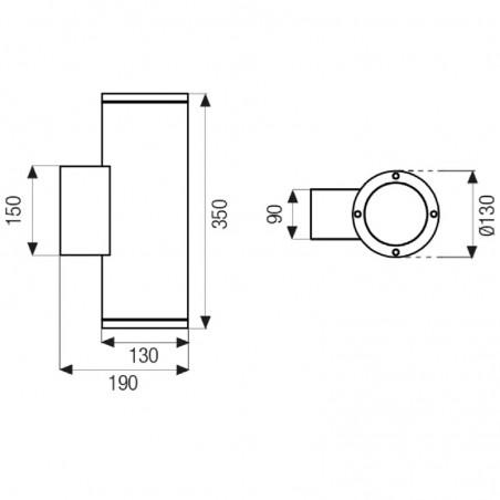 Boluce Blitz 9062.352 Applique Outdoor Wall Lamp Bi-directional IP65  White