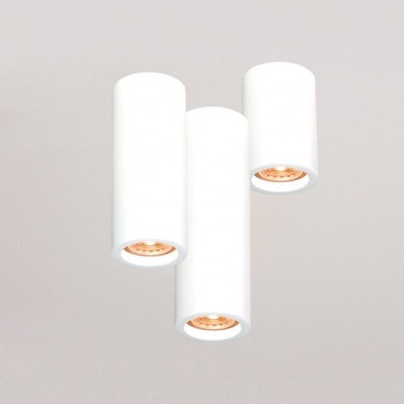 Molveno Lighting Argo Medium Ceiling Cylinder Surface Round Plaster Gypsolyte