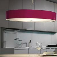 Modo Luce Disco Volante Suspensione Ceiling Lamp Fuchsia