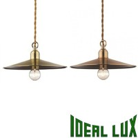 Ideal Lux Cantina SP1 Small Vintage Suspension Vintage Copper or Burnished