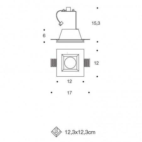 PAN INC1501 LED Paintable Chalk Recessed Spotlight GU10
