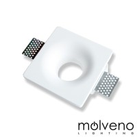 MOLVENO LIGHTING Slide LED Recessed Spotlight Plaster Gypsolyte White