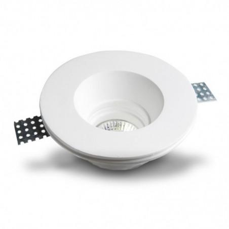 MOLVENO LIGHTING Oblo' LED Faretto Incasso Soffitto Gesso Gypsolyte Bianco