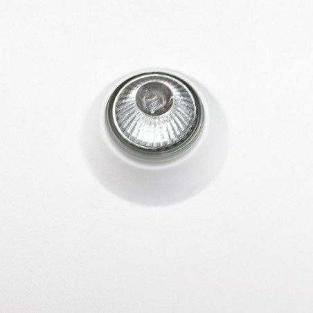 MOLVENO LIGHTING Oblo' LED Ceiling Chalk Recessed Spotlight Gypsolyte White