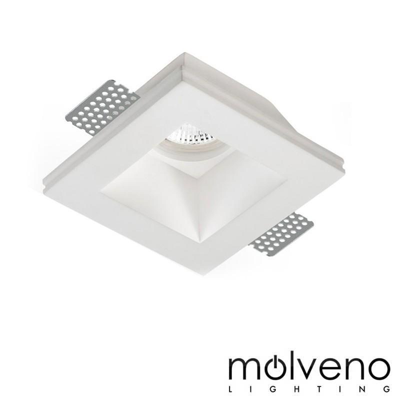 Fari Ad Incasso A Led.Molveno Lighting Aragon Glass Led Faretto Da Incasso Gesso Quadrato