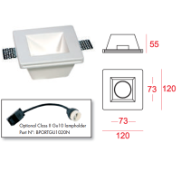 MOLVENO LIGHTING Aragon Glass LED Recessed Square Spotlight  with Paintable Glass
