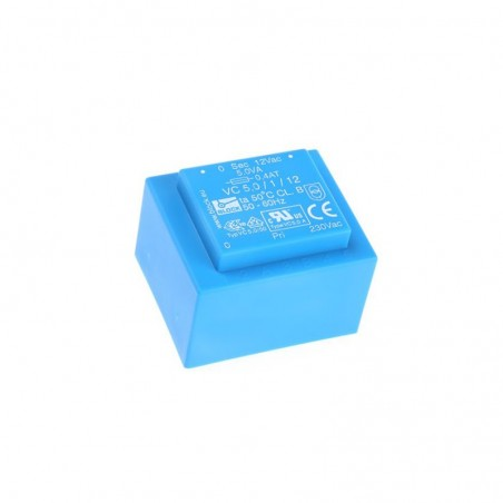 Block 5VA Transformer 12V Low Voltages Small Dimensions For Printed Circuit