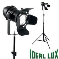 Ideal Lux Movie PT1 Lampada da Terra Con Molle e Alette Regolabili, Nero Opaco Cinema