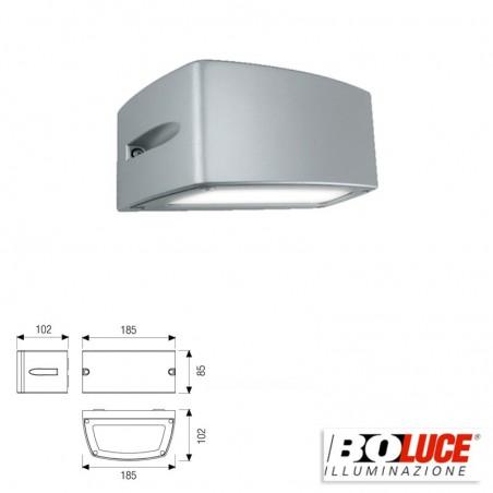 Boluce Blues Mini 8072 Applique Lampada Parete Bidirezionale 13W IP65 Silver