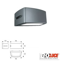 Boluce Blues Mini 8072 Applique Lampada Parete Bidirezionale 13W IP65 Antracite