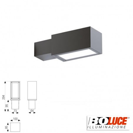 Boluce Sharp LED Outdoor Applique Wall Lamp IP65