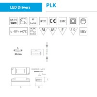 QLT PLK303 8,4W 700mA 12V power supply for LED modules