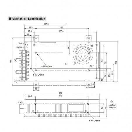 Alimentatore Meanwell SP-320-12 320W 12V 25A