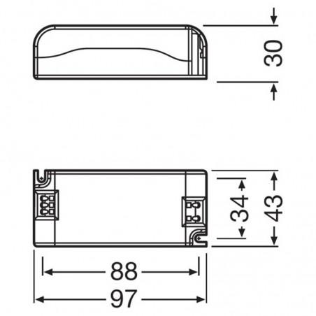 Osram Alimentatore Elettronico Powertronic PTi 35/220-240 S Mini per Lampade Scarica