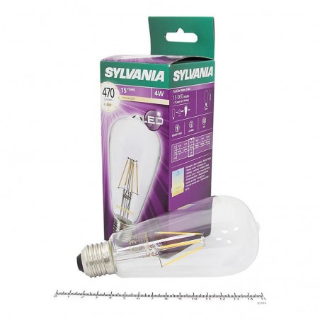 SYLVANIA ToLEDo LED Retro Vintage Retro Lampadina ST64 E27 4W-40W 470 lm 2700K