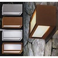 PAN EST170 Connection Applique Wall Lamp Rust multi-light emission IP54