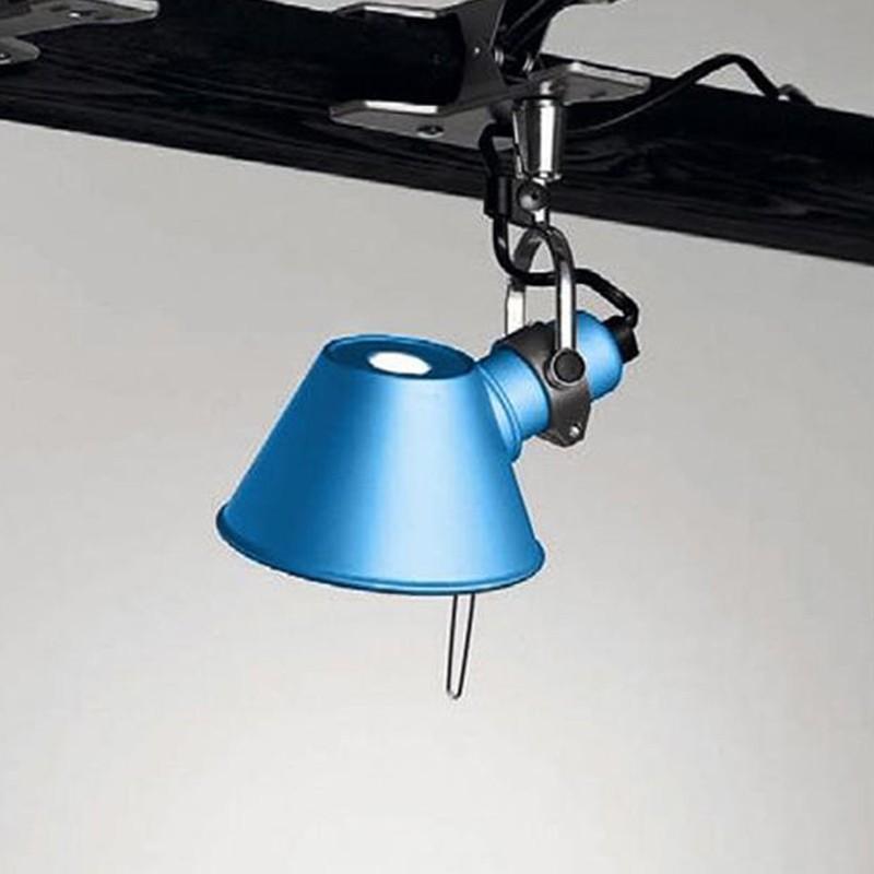 Artemide Tolomeo Micro Pinza Turquoise Table Wall Lamp ...