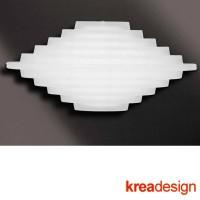 Kreadesign Club C Applique Lampada da Parete Vetro Satinato 31241