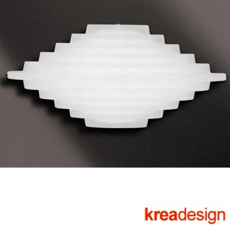 Kreadesign Club C Applique Wall Lamp Satin Glass 31241