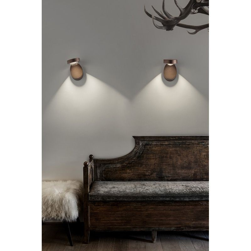Pin Up LED Applique Wall or Ceiling Lamp Coppery Bronze Studio ...