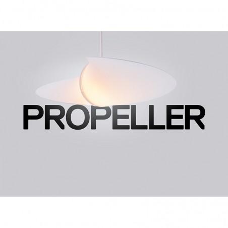 Serien Propeller Ventilatore da Soffitto D.420mm con Lampada E27 105W Design