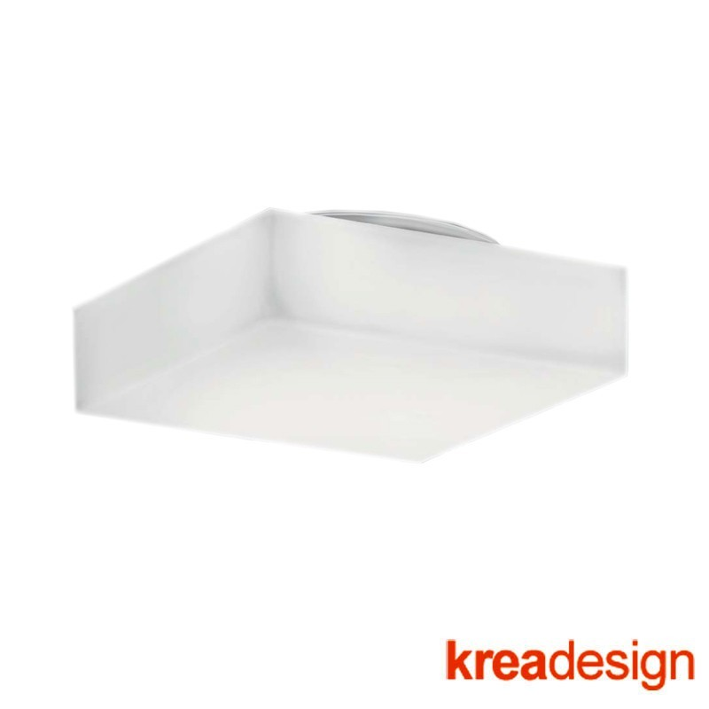Kreadesign Quadro 250 Transparent Ceiling or Wall Lamp Square IP65
