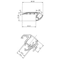 LED's ON Alu Stair LED Aluminum Profile - 1 Meter - AL-ST