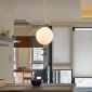 Flos IC S1 Suspension Lamp Blown Glass and Brass F3175059
