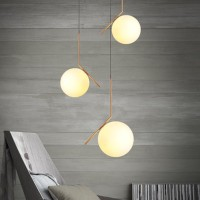 Flos IC S2 Suspension Lamp Blown Glass and Brass F3176059