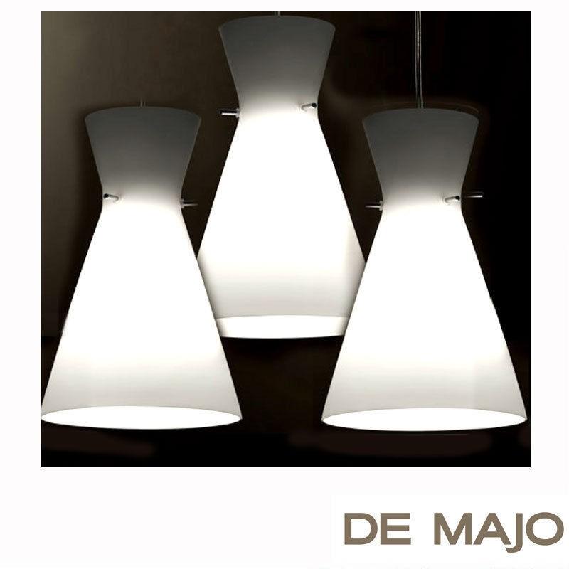 De Majo Suspension 3 lights White satin S3GD