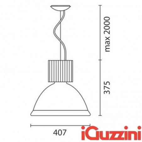 IGuzzini SM18 Central Bell suspension suspension bell industrial lamp