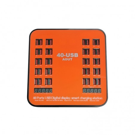 40 port HUB charger for Intelligent recognition current 5V 30A QC USB charger